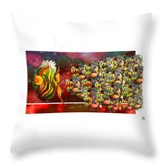 Watchamyteethacus After An Easy Meal Throw Pillow