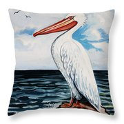 Watcher Of The Sea Throw Pillow