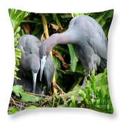Watching The Hatching Throw Pillow