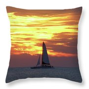 Watching Fire In The Sky Throw Pillow