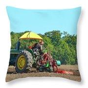 Watching Her Plow Two  Throw Pillow