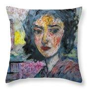 Watching Illuminated Throw Pillow