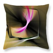 Watching In Silence Throw Pillow