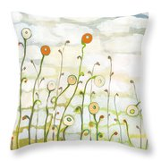 Watching The Clouds Go By No 2 Throw Pillow by Jennifer Lommers