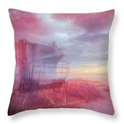 Watching The Day Begin In Watercolors Throw Pillow