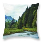 Watching The Days Go By Throw Pillow