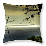 Watching The Ships Go By Throw Pillow