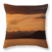 Watching The Sun Rise Over Mt. Baker Throw Pillow