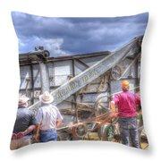 Watching The Thresher 3368 Throw Pillow