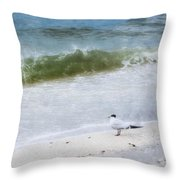 Watching Waves Crest And Break Throw Pillow