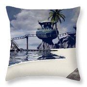 Watchtower Beach Throw Pillow