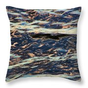 Water Abstract 3 24 15 Throw Pillow