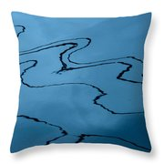 Water Abstract - 6 Throw Pillow