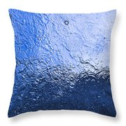 Water Abstraction - Blue Reflection Throw Pillow