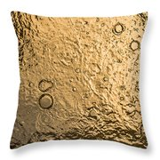 Water Abstraction - Liquid Gold Throw Pillow