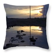 Water And Electricity Throw Pillow
