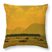 Water And Fire At Leeks Marina Throw Pillow