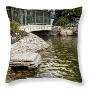Water And Flower Throw Pillow