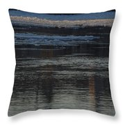 Water And The Ice - Icy River Danube Throw Pillow