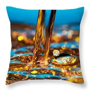 Water And Oil Throw Pillow by Setsiri Silapasuwanchai