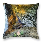 Water And Rock Throw Pillow