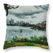 Water And Scenery Throw Pillow