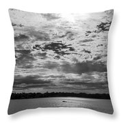 Water And Sky - Bw Throw Pillow