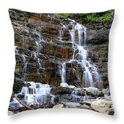 Water And Stone Throw Pillow
