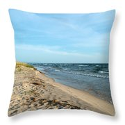 Water And The Beach Throw Pillow