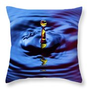 Water Art  Throw Pillow