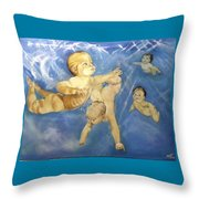 Water Babies Throw Pillow