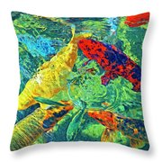 Water Ballet Throw Pillow