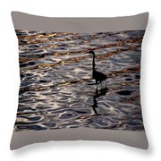 Water Bird Series 17 Throw Pillow