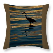 Water Bird Series 7 Throw Pillow