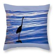 Water Bird Series Throw Pillow