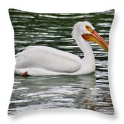 Water Bird With Notches Throw Pillow