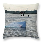 Water Boarding Throw Pillow