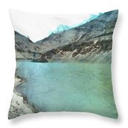 Water Body In The Himalayas Throw Pillow