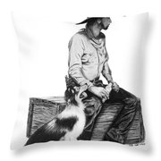 Water Break Throw Pillow