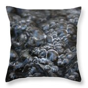 Water Bubbles Throw Pillow