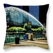 Water Canon In Color Throw Pillow