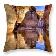 Water Canyon Throw Pillow