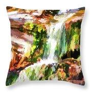 Water Cascading Throw Pillow