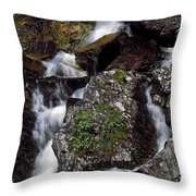 Water Cascading Throw Pillow