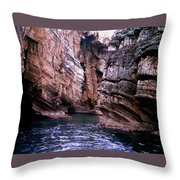 Water Caves - Italy Throw Pillow