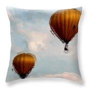 Water Color Balloons Throw Pillow