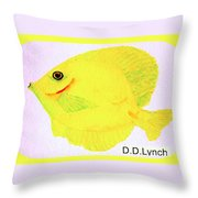 Water Color Of Fish Throw Pillow