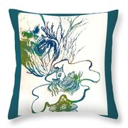Water Color Poster Of Good And Evil Throw Pillow
