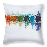 Water Colors Throw Pillow