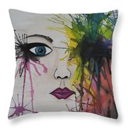 Water Colour - Face Throw Pillow